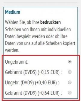 DVD9 Produktion - ab sofort flexiblere Bestellung möglich