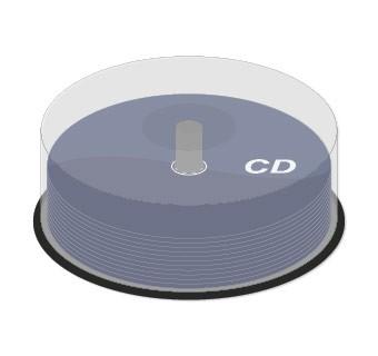 CD bedruckt auf Spindel