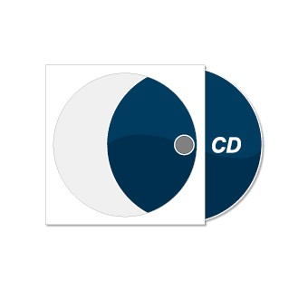 CD bedruckt mit Papierstecktasche (weiß)