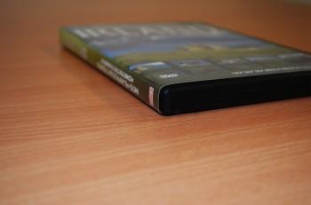 DL-DVD (DVD-9) und DVD-Cover mit Hülle
