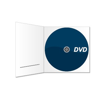 DVD und Digipack (mit Schlitz) bedruckt