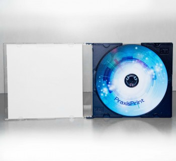 CD bedruckt mit Slimcase und CD-Cover