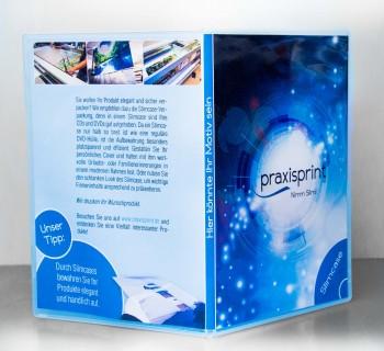 DVD und DVD-Cover bedruckt mit Hülle
