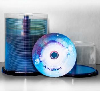Blu-ray farbig bedruckt auf Spindel