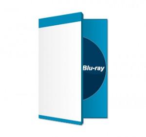 Blu-ray mit Cover bedruckt mit Hülle