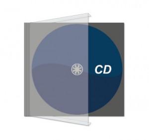 CD bedruckt mit Jewelcase und CD-Cover
