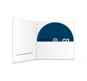 CD und Digifile (mit Schlitz) bedruckt