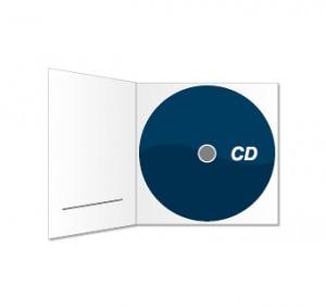 CD und Digipack (mit Schlitz) bedruckt