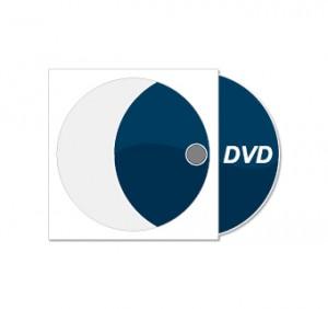 DVD bedruckt mit Papierstecktasche (weiß)