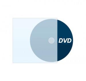 DVD bedruckt mit Plastikstecktasche