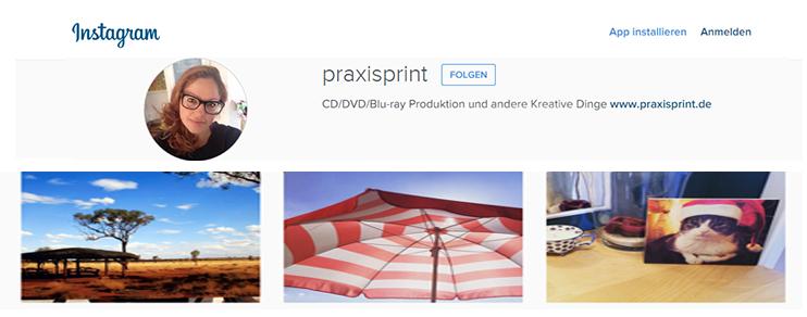 PraxisPrint jetzt auch bei Instagram